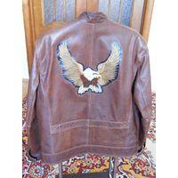 Мужская кожаная куртка David Moore (L)