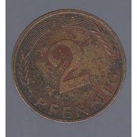 2 пфеннига Германия (ФРГ) 1980 F_Лот #1252