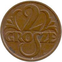 Польша 2 гроша 1928г.