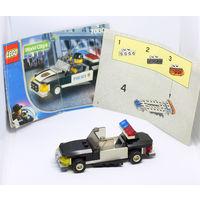 Полицейская машинка LEGO с инструкцией и с минифигуркой Шериф.