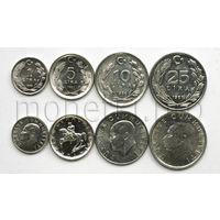 Турция 4 монет 1981-1988 годов (алюминиевые).