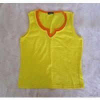 Ярко-желтая маечка Campei, имитация двухслойности, р.М