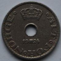 Норвегия, 10 эре 1924 г