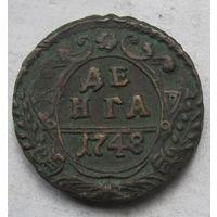 Россия, деньга, 1748, медь