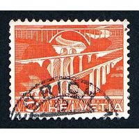 48: Швейцария, почтовая марка, 1949 год, номинал 5с, SG#511