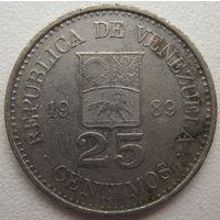 Венесуэла 25 сентимос 1989 г. (d)