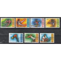 Гренада Гренадины Олимпийские игры в Монреале 1976 год гашеная серия из 7-ми марок