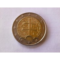 Словакия 2 евро, 2011г. Тираж - 5 000 000