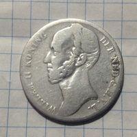 Нидерланды 1 гульден 1848г