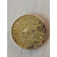 Латвия 5 сантим 2009г.