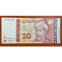 Таджикистан, 10 сомони (образца 1999 года) CP
