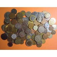 90 шт. всяких монет мира с 1 руб