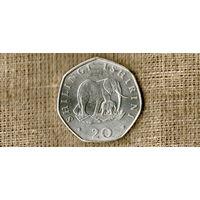 Танзания 20 шиллингов 1992 /фауна//(ON)