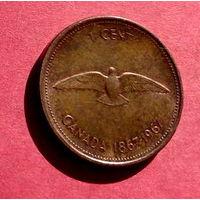 06-28 Канада, 1 цент 1967 г.
