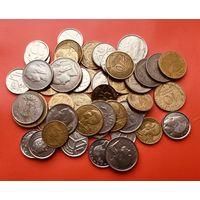 28 монеток Франции и Бельгии