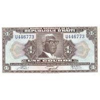 Гаити 1 гурд образца 1971 года UNC p200a
