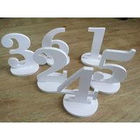 Номера на стол (1-6).