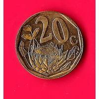 12-36 ЮАР, 20 центов 2009 г.