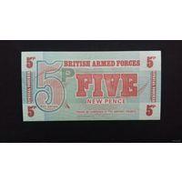 Великобритания 5 пенсов 1972 (ваучер британских вооружённых сил ) UNC. РАСПРОДАЖА с 50 копеек