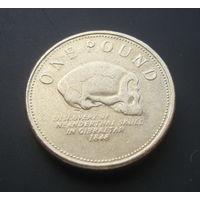 Гибралтар 1 фунт. 2010г.