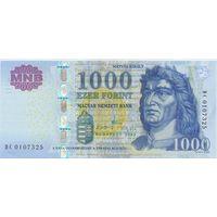 Венгрия, 1000 форинтов 2009 года.