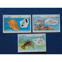 Куба 1990г. Морская фауна.
