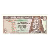 Гватемала 0,5 кетцеля 1998 года. Нечастая! Состояние UNC!