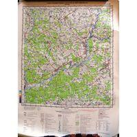 КРИЧЕВ, карта 40х53 см.
