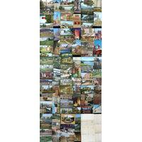 Коллекция открыток с видами польских городов, 1970-е годы, Польша, 113 штук, чистые + бесплатная пересылка