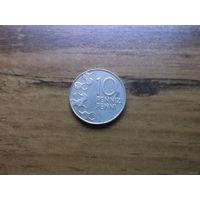 Финляндия 10 пенни 1998