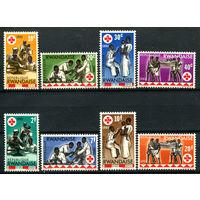 Руанда - 1963г. - Красный крест - полная серия, MNH, 3 марки с дефектом клея [Mi 44-51] - 8 марок