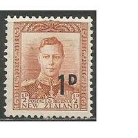 Новая Зеландия. Король Георг VI. Надпечатка на #237. 1953г. Mi#327.