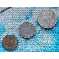 Тайвань набор монет 1, 5, 10 долларов.