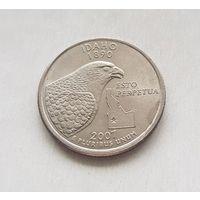 25 центов США 2007 г. штат Айдахо P