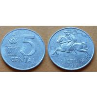 Литва 5 центов, 1991 год ! Погоня