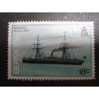 Бермуды, колония Англии 1986 корабль