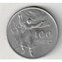 Южная Корея 100 вон 1975 30 лет освобождению