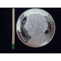 """Медаль памятная, монетовидная """"Thomas Jefferson-1801-1809"""", 900 пр., полировка, пруф, в капсуле."""