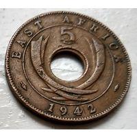 Британская Восточная Африка 5 центов, 1942 Без отметки  2-2-31