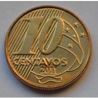 Бразилия 10 сентаво, 2011 г.