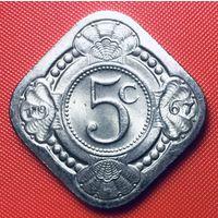 32-08 Антильские острова, 5 центов 1967 г.