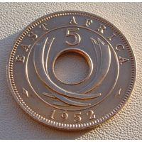 Британская Восточная Африка. 5 центов 1952 год  KM#33