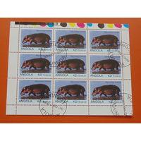 Ангола 1999 г.  Фауна.
