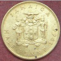 6496:  1/2 пенни 1966 Ямайка