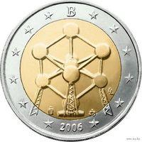 2 евро 2006 Бельгия Атомиум UNC из ролла