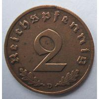 Германия. 2 рейхспфеннига 1939 D. 352