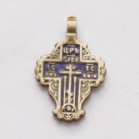 Крестик женский с эмалью
