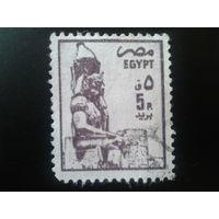 Египет 1985 статуя фараона Рамсеса 2