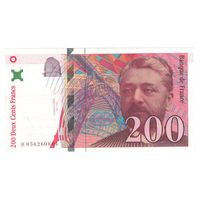 Франция 200 франков 1997 года. Состояние XF. Нечастая!