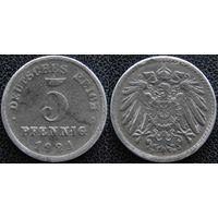 YS: Германия, 5 пфеннигов 1921F, KM# 19 (2)